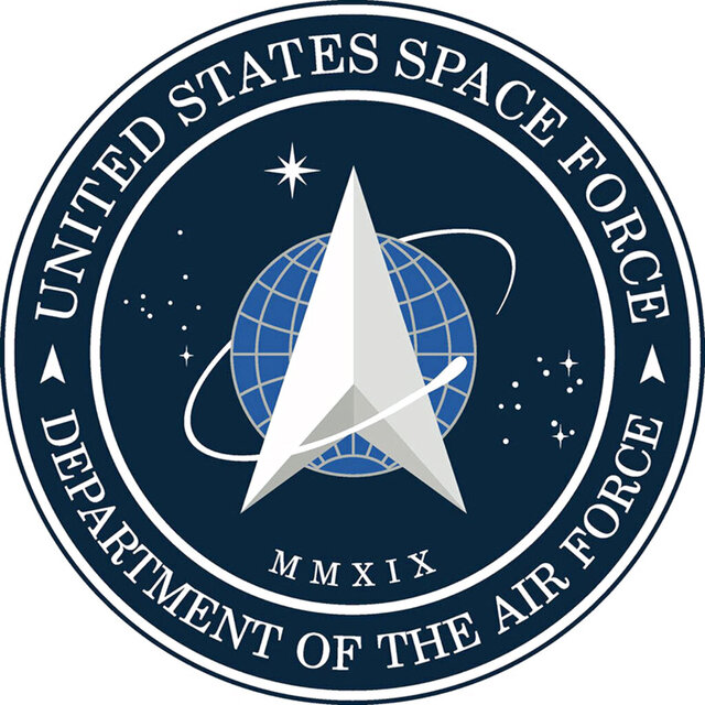 Logo for the newly-created Space Force.;