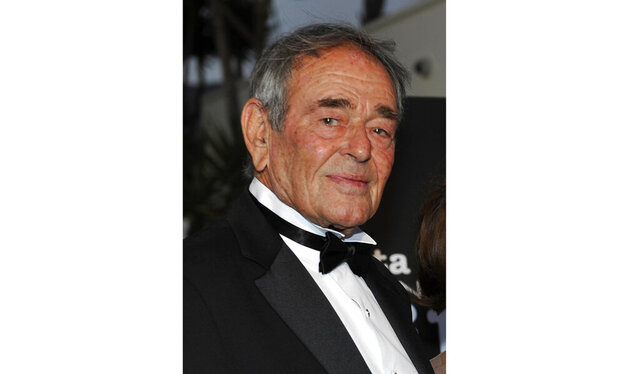 FILE - In this Oct. 2, 2008 file photo, actor Stuart Whitman arrives at the Santa Barbara International Film Festival black-tie gala fundraiser in Santa Barbara, Calif. Whitman, who appeared in hundreds of films and television shows, died Monday in Montecito, Calif. at 92. (AP Photo/Phil Klein, file)