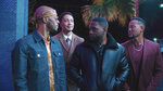 """This image provided by Bounce shows Deji LaRay, from left, Philip Smithey, Thomas Q. Jones and Derrex Brady in a scene from """"Johnson,"""" which premieres Aug. 1, 2021, on Bounce TV. (DeWayne Rogers/Bounce via AP)"""