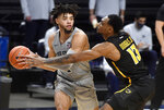 VCU's Corey Douglas Jr. tries to block Penn State's Seth Lundy as he looks for an open teammate during an NCAA college basketball game Wednesday, Dec. 2, 2020, in State College, Pa. (Abby Drey/Centre Daily Times via AP)