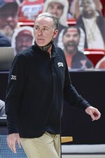 TCU head coach Jamie Dixon on the sideline during the second half of an NCAA college basketball game against Texas Tech in Lubbock, Texas, Tuesday, March 2, 2021. (AP Photo/Justin Rex)