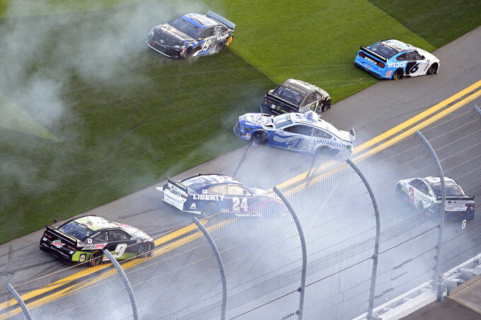 Jones wins crash-fest at Daytona to open NASCAR season