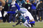 Philadelphia Eagles cornerback Avonte Maddox (29) brings down Dallas Cowboys tight end Jason Witten during the first half of an NFL football game Sunday, Dec. 22, 2019, in Philadelphia. (AP Photo/Michael Perez)