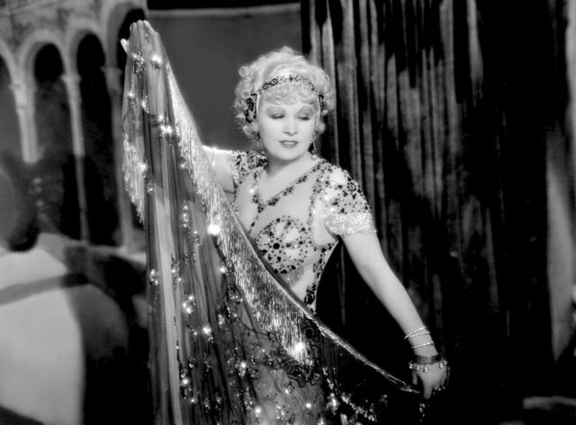 This image released by PBS shows Mae West in a scene from the 1933 film