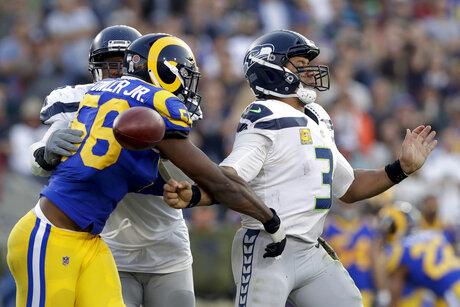 APTOPIX Seahawks Rams Football
