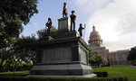 FILE - In this Aug. 21, 2017 file photo, the Texas State Capitol Confederate Monument stands on the south lawn in Austin, Texas. As a racial justice reckoning continues to inform conversations across the country, lawmakers nationwide are struggling to find solutions to thousands of icons saluting controversial historical figures. (AP Photo/Eric Gay, File)