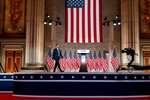 Eric Trump, the son of President Donald Trump, arrives to tape his speech for the second day of the Republican National Convention from the Andrew W. Mellon Auditorium in Washington, Tuesday, Aug. 25, 2020. (AP Photo/Andrew Harnik)