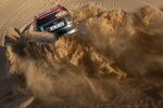 Driver Orlando Terranova, of Argentina, and co-driver Bernardo Graue, of Argentina, race their Mini during stage eight of the Dakar Rally in Wadi Al Dawasir, Saudi Arabia, Monday, Jan. 13, 2020. (AP Photo/Bernat Armangue)