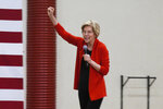 Sen. Elizabeth Warren, D-Mass., speaks to hundreds of supporters at a rally at Wooster High School in Reno, Nev., Saturday, April 6, 2019. Warren said a system that rewards the rich and powerful at the expense of working Americans is at the core of every problem facing the nation. (AP Photo/Scott Sonner)