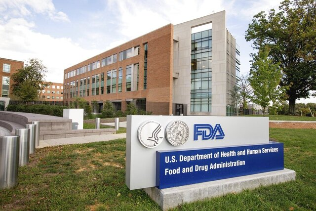FILE - This Oct. 14, 2015 file photo shows the Food and Drug Administration campus in Silver Spring, Md. On Wednesday, June 17, 2020, the FDA said it has sent warning letters to three companies for marketing adulterated and misbranded COVID-19 antibody tests. The companies targeted by FDA include: Medakit Ltd. of Hong Kong, Antibodiescheck.com of the United Arab Emirates and Sonrisa Family Dental D.B.A. My COVID19 Club of Chicago. (AP Photo/Andrew Harnik, File)
