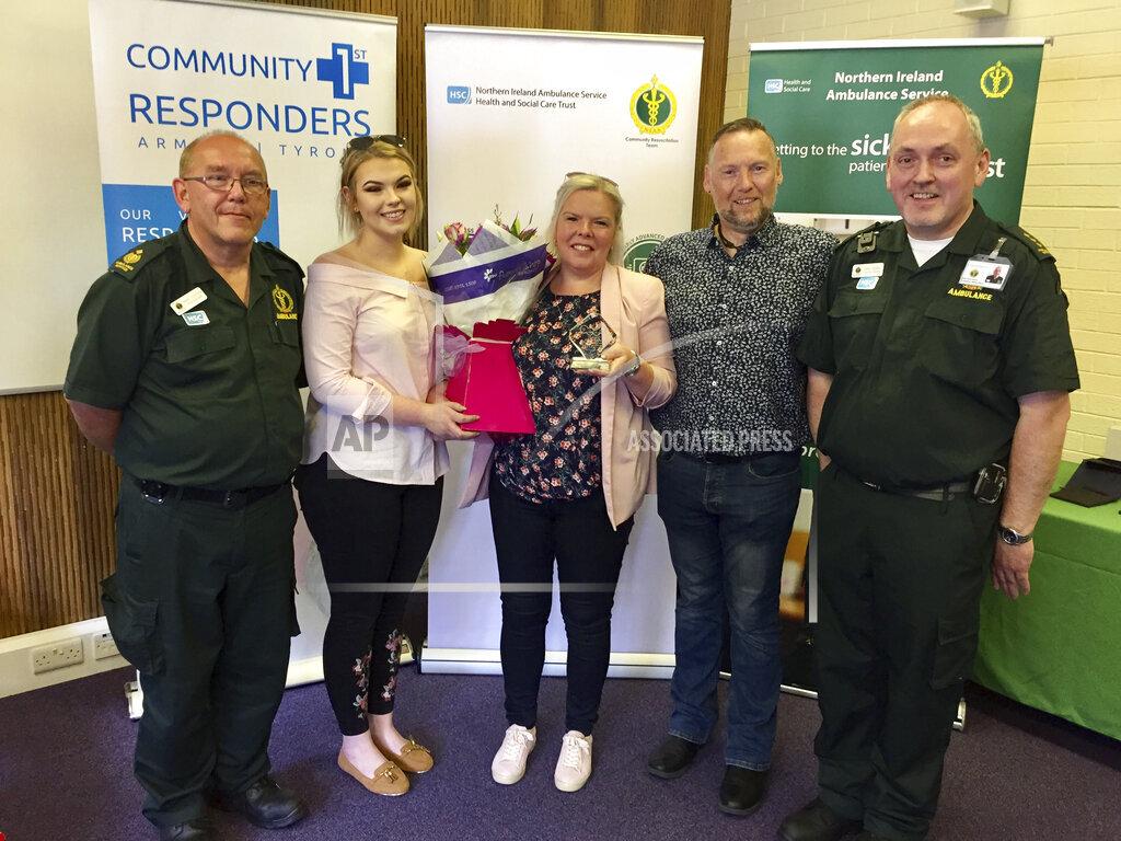 Heart attack survivor hails paramedic heroes