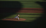 Vanderbilt starting pitcher Jack Leiter throws against North Carolina State in the fifth inning during a baseball game in the College World Series, Monday, June 21, 2021, at TD Ameritrade Park in Omaha, Neb. (AP Photo/Rebecca S. Gratz)