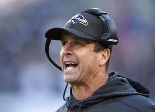 Ravens Harbaugh Football