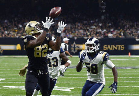 APTOPIX Rams Saints Football