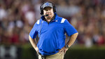 Kentucky head coach Mark Stoops looks on in the first half of an NCAA college football game against South Carolina, Saturday, Sept. 25, 2021, at Williams-Brice Stadium in Columbia, S.C. (AP Photo/Hakim Wright Sr.)