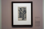 """The Study for """"Worn Out"""", a drawing by Dutch master Vincent van Gogh, dated Nov. 1882, goes on public display for the first time at the Van Gogh Museum in Amsterdam, Netherlands, Thursday, Sept. 16, 2021. (AP Photo/Peter Dejong)"""