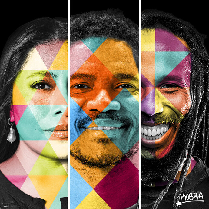 """This image released by Sony Music Brazil shows cover art for the single for """"America Vibra,"""" a trilingual song featuring Ziggy Marley and the Academy-Award nominated actress Yalitza Aparicio. (Sony Music Brazil via AP)"""