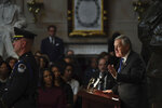Rep. Mark Meadows, R-N.C., speaks at a memorial service for Rep. Elijah Cummings, D-Md., at the U.S. Capitol in Washington, Thursday, Oct. 24, 2019. The Maryland congressman and civil rights champion died Thursday, Oct. 17, at age 68 of complications from long-standing health issues. (Matt McClain/Pool via AP)
