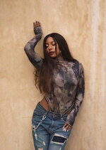 This Dec. 14, 2019 photo shows music producer Victoria Monet during a portrait session in Los Angeles. Monét is nominated for two Grammys, album of the year and record of the year, for co-producing Ariana Grande's album