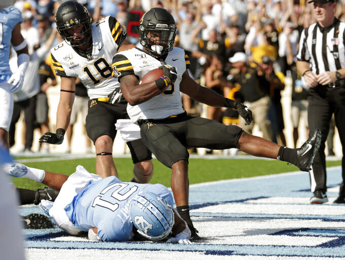 App State beats North Carolina 34-31 on blocked final FG