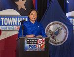 Democratic candidate for Governor of Virginia state Sen. Jennifer McClellan during a debate held in Bristol, Va., on Thursday, May 6, 2021. (David Crigger/Bristol Herald Courier via AP)