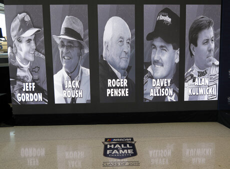 Jeff Gordon, Jack Roush, Roger Penske, Davey Allison, Alan Kulwicki