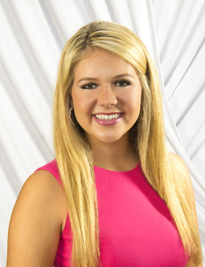 This is a May 7, 2019 file photograph that is being released with permission from the Little family of their daughter Lake Little, 18, of Starkville, Miss., who died late Saturday, July 6, 2019, of injuries from an air plane crash that happened hours earlier on the Ole Miss Golf Course near the University-Oxford Airport in Oxford, Miss. Little was pilot of a single-engine plane that crashed on the golf course while practicing takeoffs and landings at the small airport owned by the University of Mississippi. (Jim Lytle/ For the Little family via AP)
