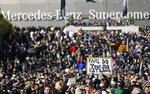 Fans line up outside Mercedes-Benz Superdome before the NFL football NFC championship game between the New Orleans Saints and the Los Angeles Rams Sunday, Jan. 20, 2019, in New Orleans. (AP Photo/Gerald Herbert)