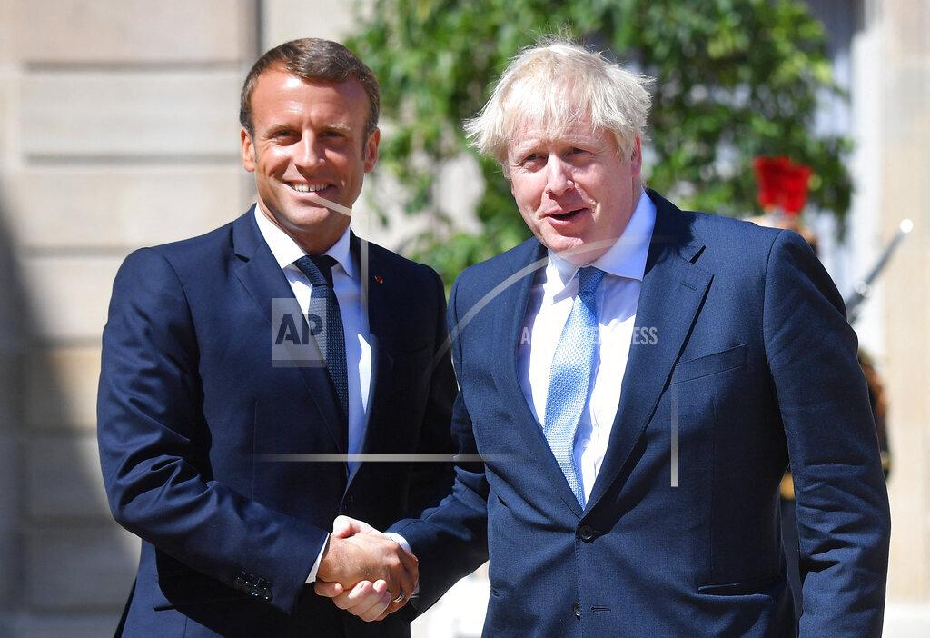 Emmanuel Macron Meets Boris Johnson - Paris