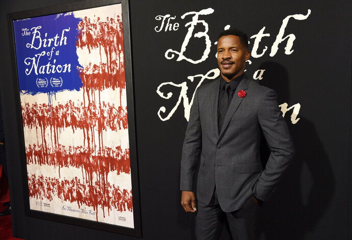 FILE - This Sept. 21, 2016 file photo shows Nate Parker, the director, screenwriter and star of