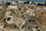 This 2014 aerial photo shows the site of the Al-Juma (Friday) Mosque in Tiberias, northern Israel. Archaeologists said recent excavations at the ancient city of Tiberias have discovered the remnants of one of the earliest mosques in the Islamic world. The foundations of the Muslim house of worship date to the late 7th century. (NTEP/ David Silverman and Yuval Nadel via AP)