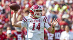New Mexico State quarterback Josh Adkins (14) throws to the outside against Alabama during the first half of an NCAA college football game Saturday, Sept. 7, 2019, in Tuscaloosa, Ala. (AP Photo/Vasha Hunt)