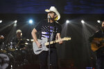This image released by ABC shows Brad Paisley during a taping of his variety special