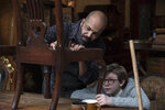 This image released by Warner Bros. Pictures shows Jeffrey Wright, left, and Oakes Fegley in a scene from