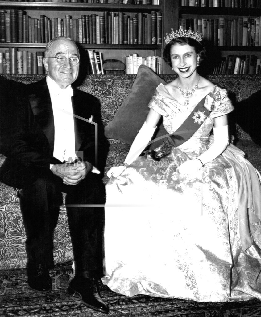 Watchf Associated Press Domestic News  Dist. of Col United States APHS220854 Princess Elizabeth and  Harry Truman
