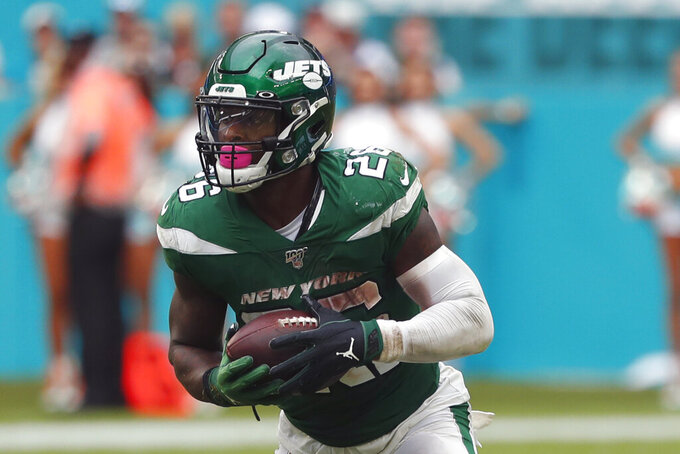 Jets' Bell sits out practice, but could play vs. Giants