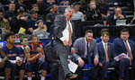 Auburn coach Bruce Pearl reacts during the first half of the team's second-round game against Kansas in the NCAA men's college basketball tournament Saturday, March 23, 2019, in Salt Lake City. (AP Photo/Rick Bowmer)