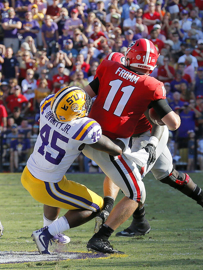 Fromm, Georgia offense struggle in loss to No. 13 LSU
