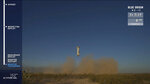 In this image from video made available by Blue Origin, the New Shepard rocket lands in Texas, to test new lunar-landing technology for NASA that could help put astronauts back on the moon by 2024. (Blue Origin via AP)