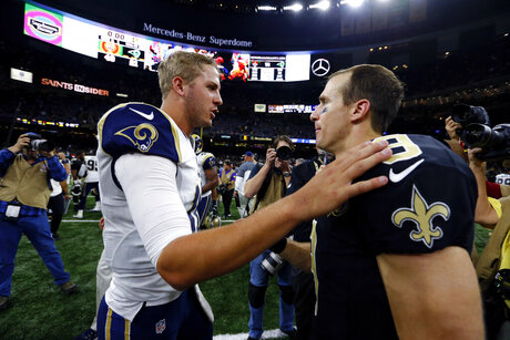 Drew Brees, Jared Goff