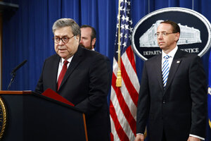 William Barr, Rod Rosenstein