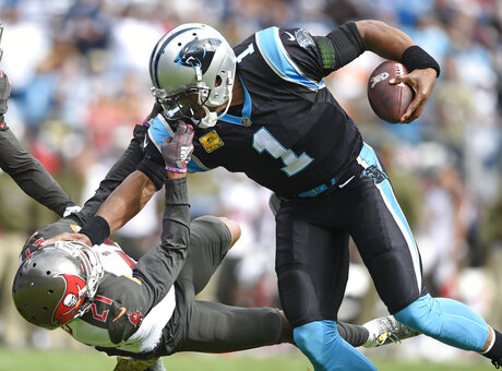 APTOPIX Buccaneers Panthers Football