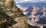 FILE - This Oct. 22, 2012, file photo, shows a view from the South Rim of the Grand Canyon National Park in Ariz. Calls are mounting for the federal government to close Grand Canyon National Park after a resident of the iconic park tested positive for the coronavirus and has been in isolation. Members of Congress and city, county and tribal officials have urged the Interior Department to approve a request from the park to close. The Park Service has been deciding whether to shut down individual sites on a park-by-park basis, in consultation with state and local health officials. Neither the Interior Department nor the Park Service immediately responded to requests Tuesday, March 31, 2020, on the status of the Grand Canyon's request. (AP Photo/Rick Bowmer, File)