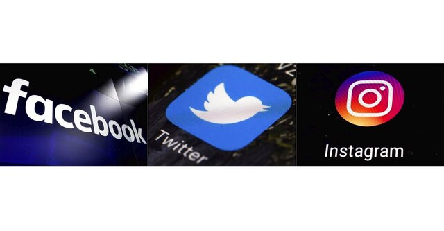 This combination of photos shows logos for social media platforms, from left, Facebook, Twitter and Instagram. Lost jobs over social media statements that seemed like a good idea at the time have become a common occurrence, but the tense environment of nationwide protests against racism and police brutality with the backdrop of a pandemic have made Twitter, Instagram and Facebook especially dangerous for those who want to remain among the employed. (AP Photo)