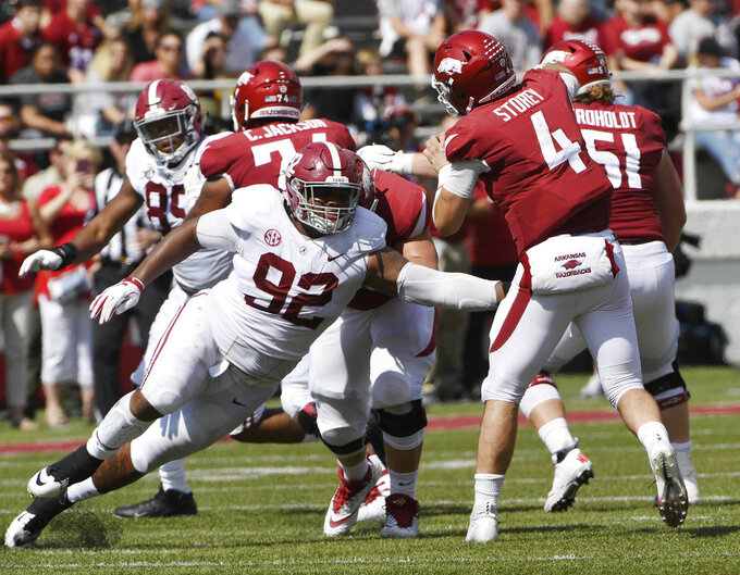 Alabama's Quinnen Williams a dominant force on D-line