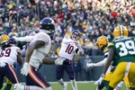 Chicago Bears' Mitchell Trubisky throws during the second half of an NFL football game against the Green Bay Packers Sunday, Dec. 15, 2019, in Green Bay, Wis. (AP Photo/Morry Gash)