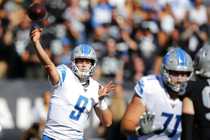 Detroit Lions at Oakland Raiders 11/3/2019