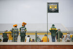 Green Bay Packers fans watch practice during NFL football training camp Saturday, July 31, 2021, in Green Bay, Wis. (AP Photo/Matt Ludtke)
