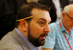 Detroit Lions head coach Matt Patricia speaks to the media during the NFC/AFC coaches breakfast during the annual NFL football owners meetings, Tuesday, March 26, 2019, in Phoenix. (AP Photo/Matt York)