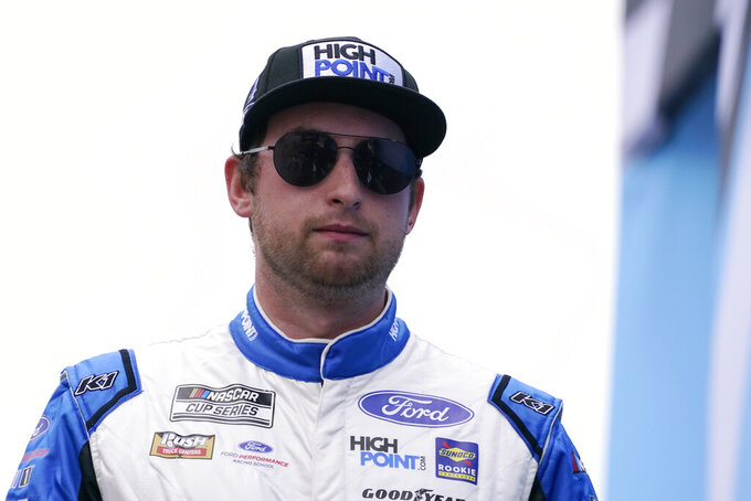 Chase Briscoe at a NASCAR Cup Series auto race, Sunday, July 18, 2021, in Loudon, N.H. (AP Photo/Charles Krupa)